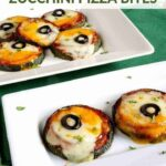 Double cheese zucchini pizza bites recipe