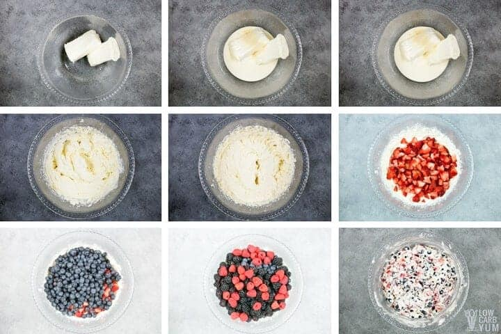 How to make a low carb berry cheesecake salad