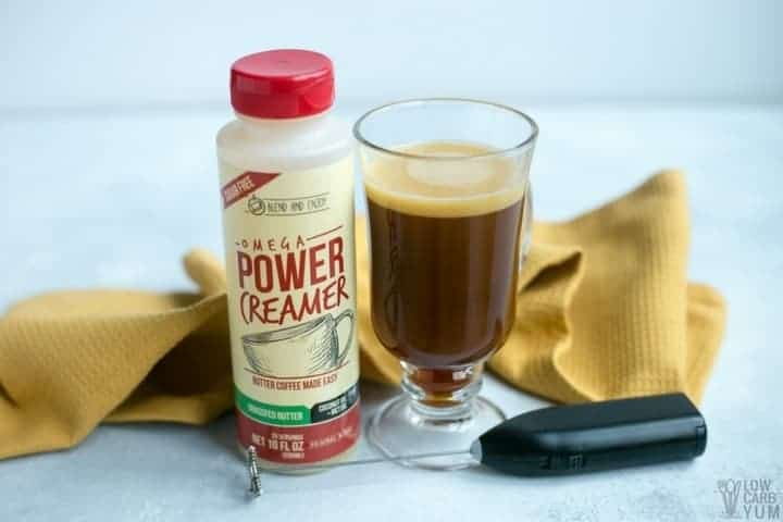 Power Creamer Ketogenic Coffee with Grass Fed Ghee | Low Carb Yum