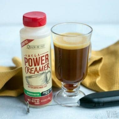 Power Creamer Ketogenic Coffee with Grass Fed Ghee