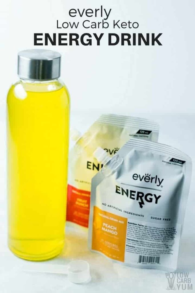 Everly keto low carb energy drink
