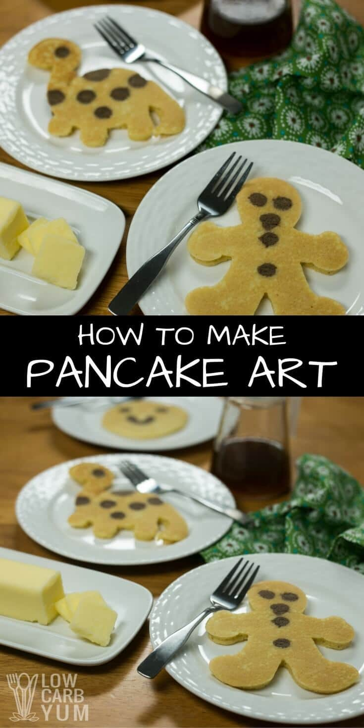 Make breakfast fun with easy to make pancake art that the kids will love. The key to making them easily is using special shaker bottles by Whiskware. | LowCarbYum.com