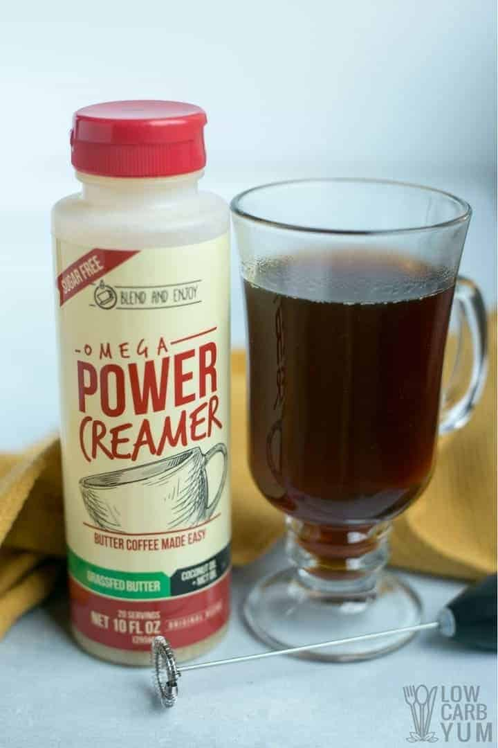 Easy power creamer ketogenic coffee