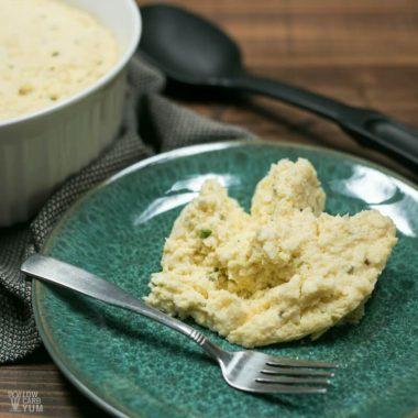 Pressure cooker cauliflower souffle