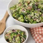 Low carb sweet broccoli salad supreme