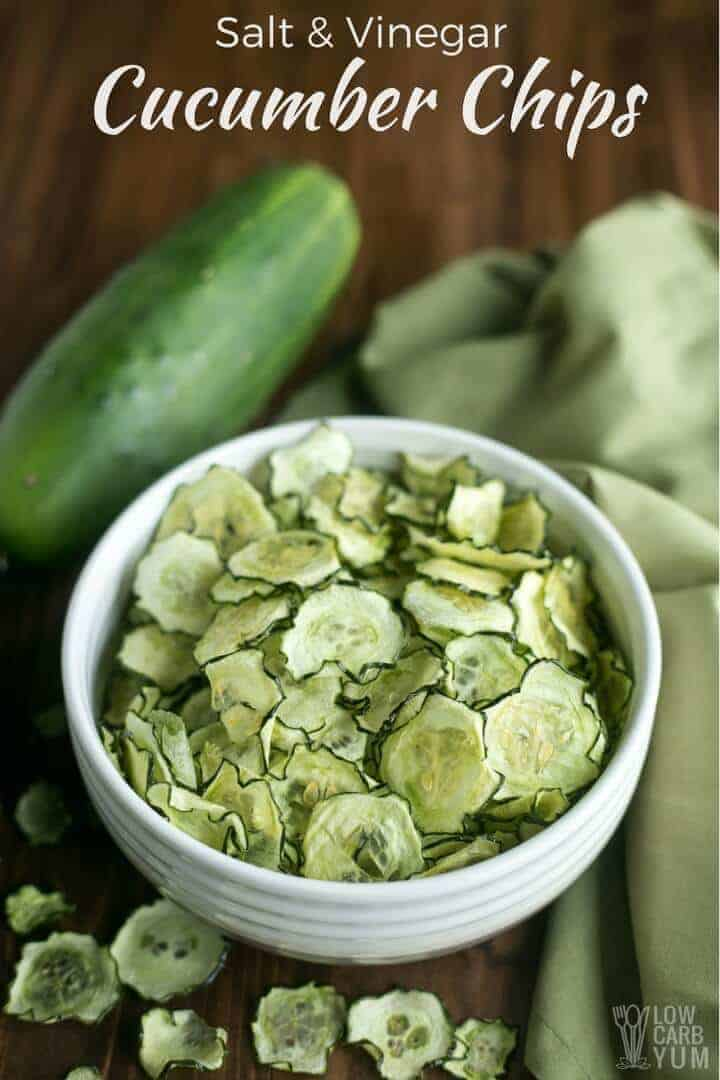Easy salt and vinegar baked cucumber chips recipe
