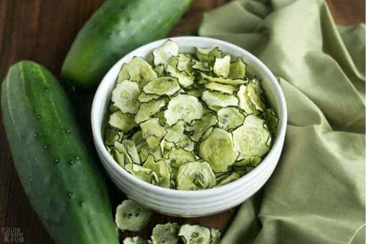 crispy baked cucumber chips recipe