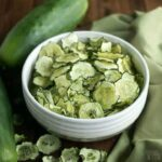 baked cucumber chips