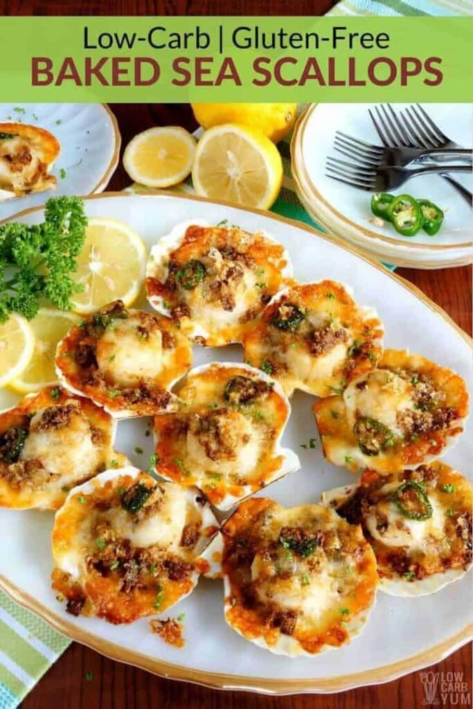 Low carb baked sea scallops recipe
