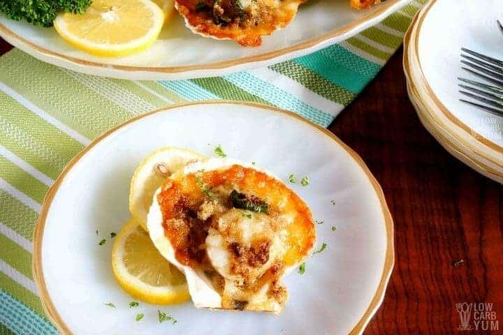 Gluten free low carb baked sea scallops recipe