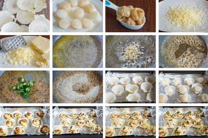 How to make low carb baked sea scallops