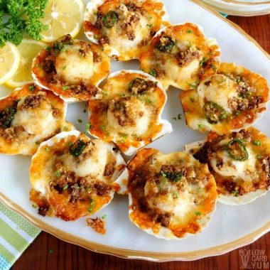 Baked Sea Scallops with Crispy Gluten Free Topping