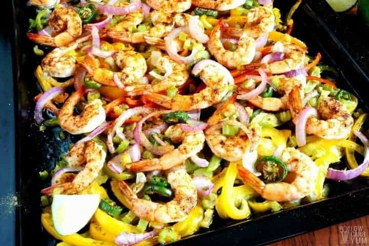Sheet pan low carb fajitas