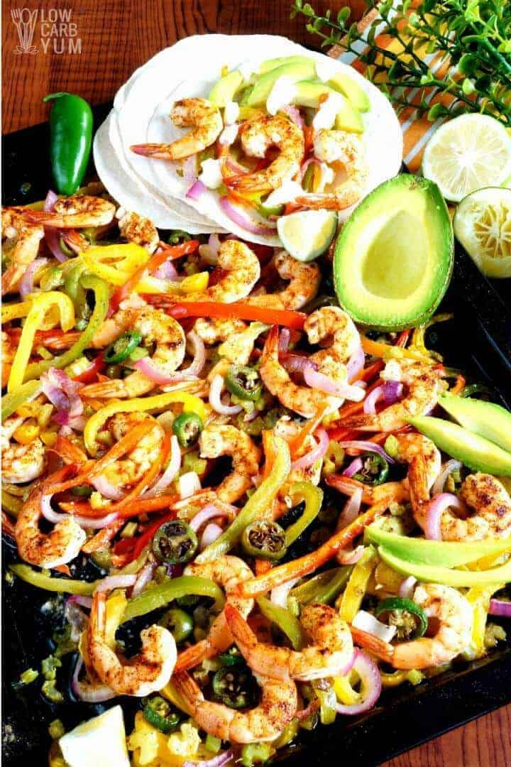 Sheet pan keto low carb fajitas
