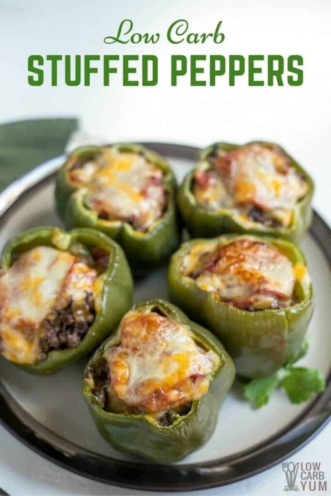 Low carb stuffed peppers with cheese