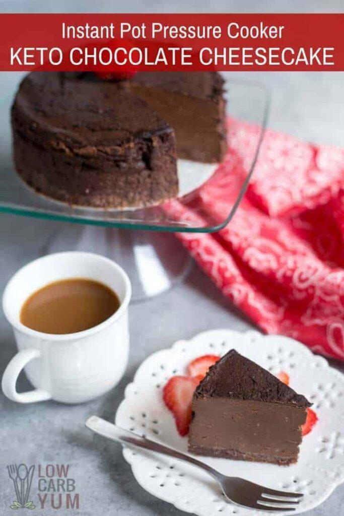 Easy pressure cooker keto chocolate cheesecake