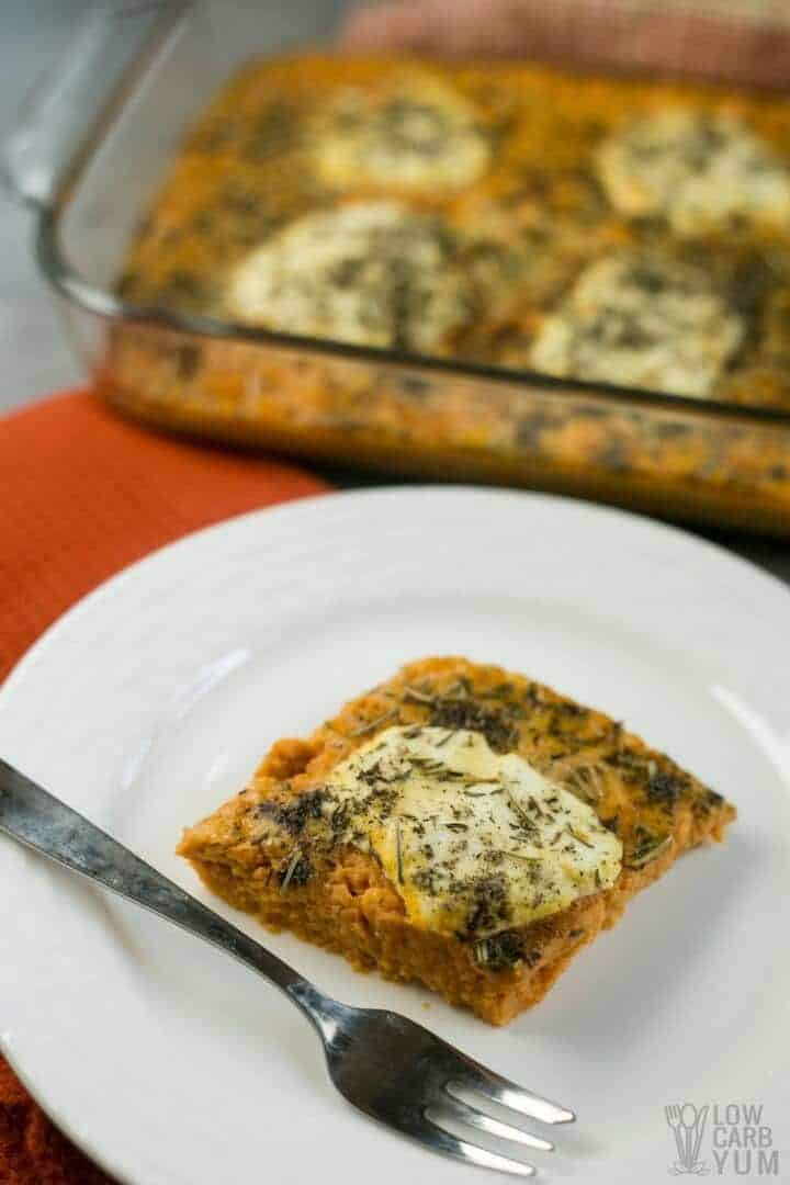 Savory pumpkin casserole recipe with cheese