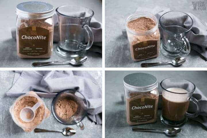 Using ChocoNite sugar free hot cocoa mix k-cups