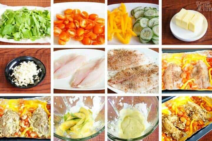 How to make tilapia salad recipe with creamy avocado dressing