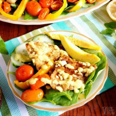 Tilapia salad creamy avocado dressing recipe