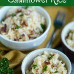 Quick and easy cheesy cauliflower rice