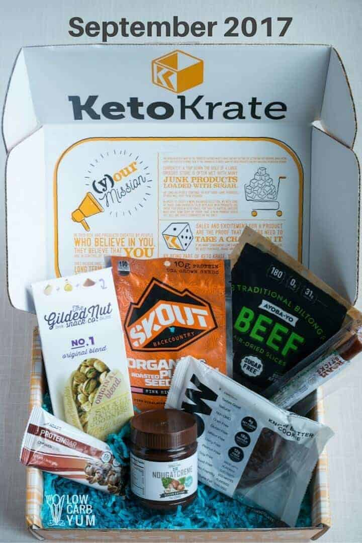 Review of September 2017 Keto Krate Box