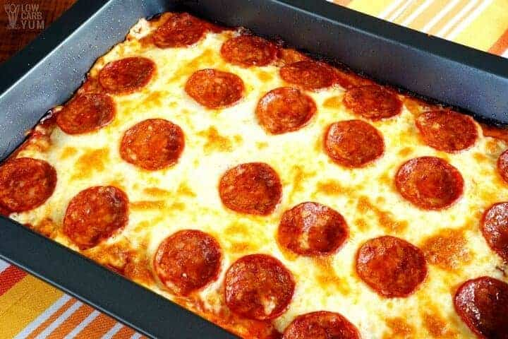 pizza baked in casserole pan