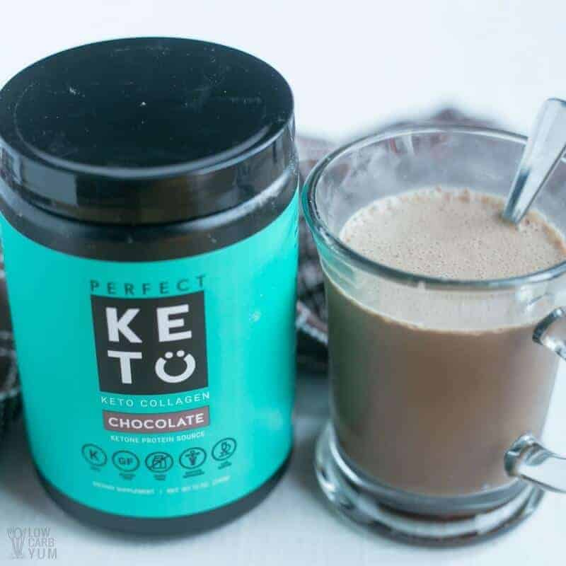 Perfect Keto Grass Fed Collagen Chocolate Supplement Low Carb Yum