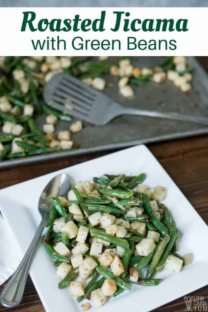 AIP paleo roasted jicama with green beans