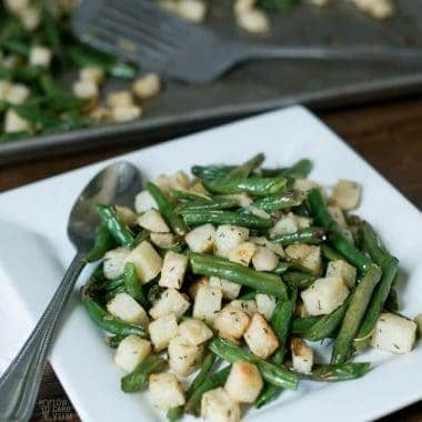 Roasted Jicama with Green Beans – Whole30, AIP, Paleo
