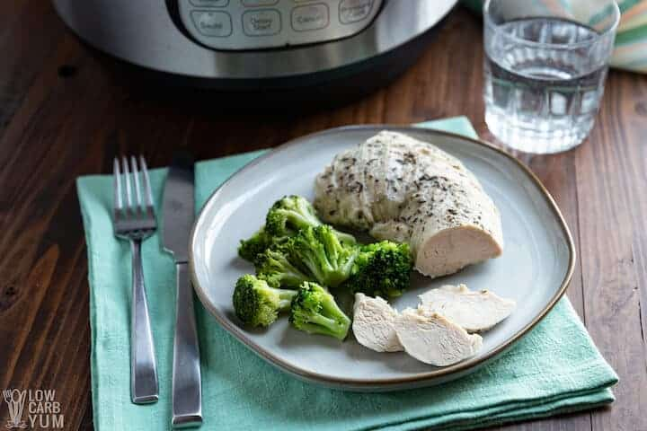 sliced instant pot turkey breast tenderloin on plate