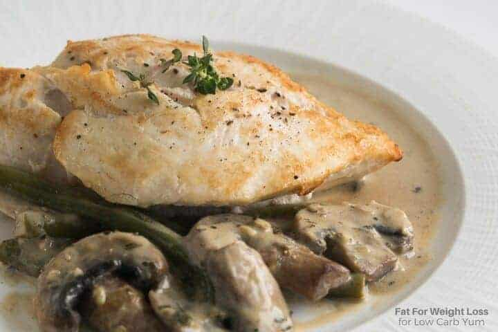 Low carb chicken in white sauce recipe