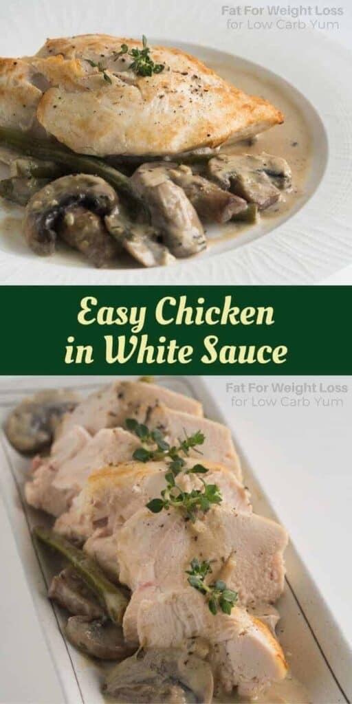 Easy chicken in white sauce recipe