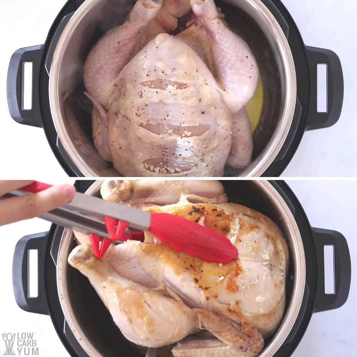 cooking whole chicken in pressure cooker