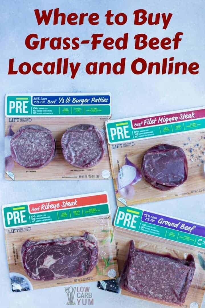 Where to buy grass-fed beef locally and online