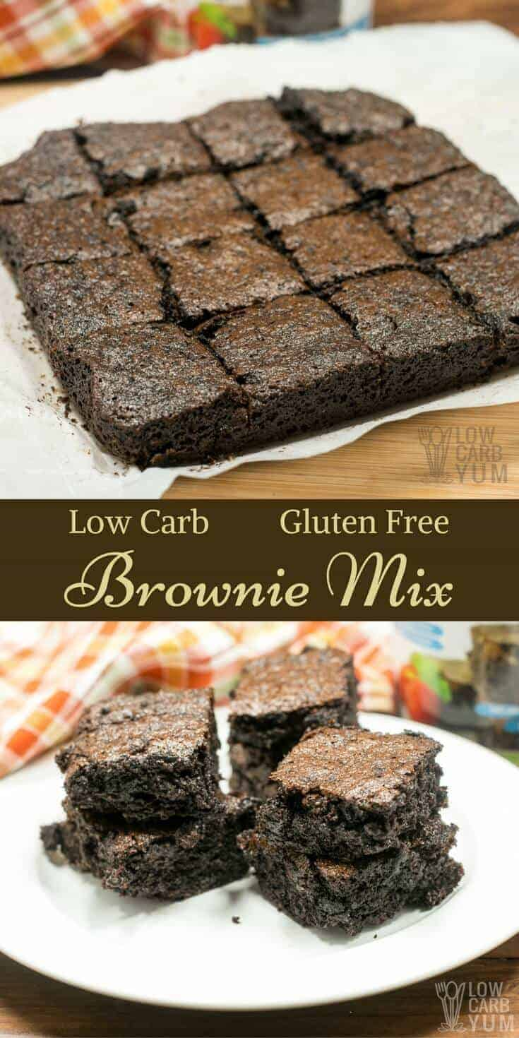 A decadent low carb brownie mix that makes the fudgiest brownies ever. All you need to do is mix in eggs and butter. It doesn't get much easier! | LowCarbYum.com