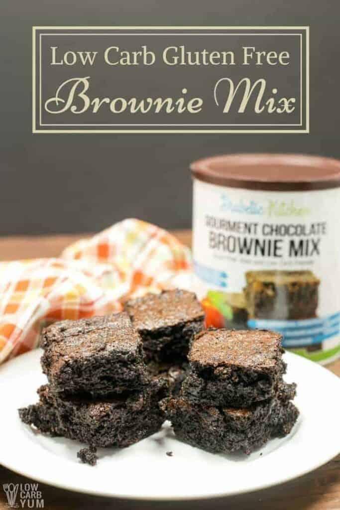 Gourmet low carb brownie mix