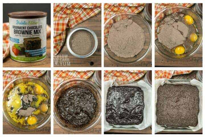 Fudgy low carb brownie mix