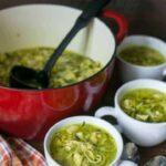 Paleo friendly low carb chicken noodle soup