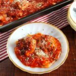 Gluten free low carb meatball parmesan casserole