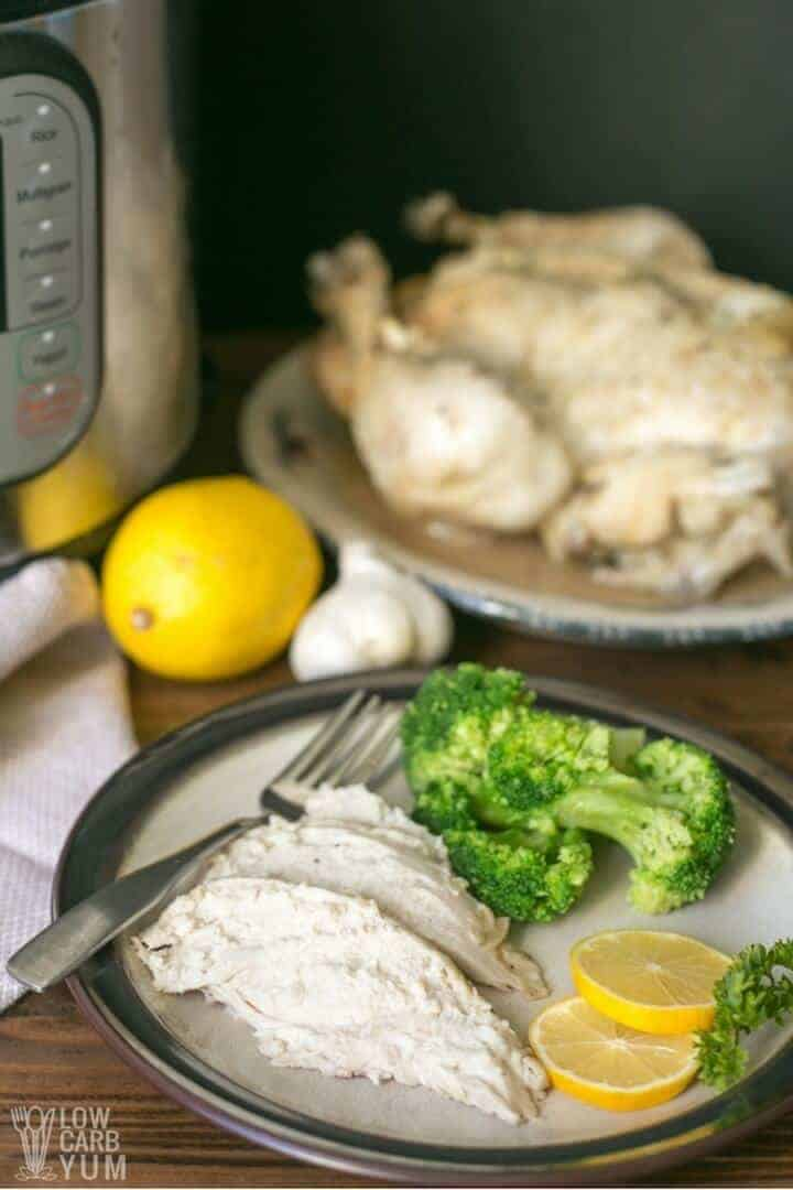 Electric pressure cooker whole chicken