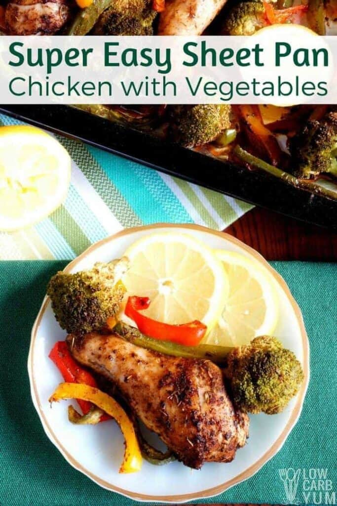 Super easy sheet pan chicken with vegetables