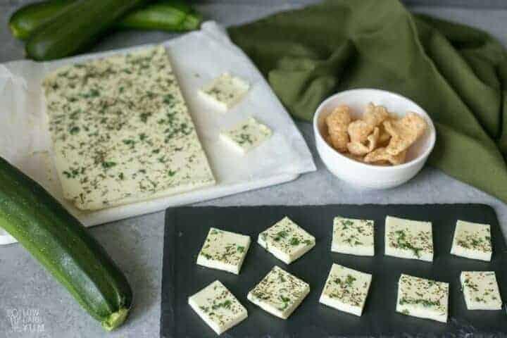 Tasty dairy free zucchini cheese