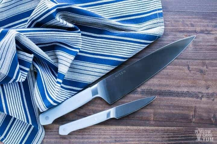 Testing the best brand of kitchen knives: Misen