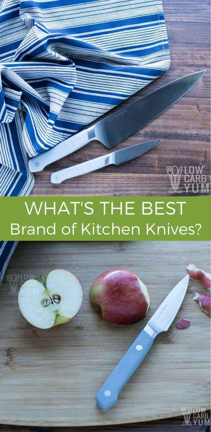 For those searching for the best brand of kitchen knives, definitely give Misen a look. Although they use high quality materials, the price is affordable. | LowCarbYum.com