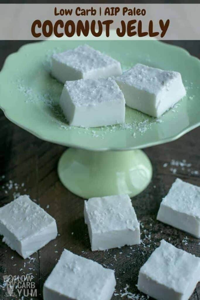 Easy AIP paleo coconut jelly squares