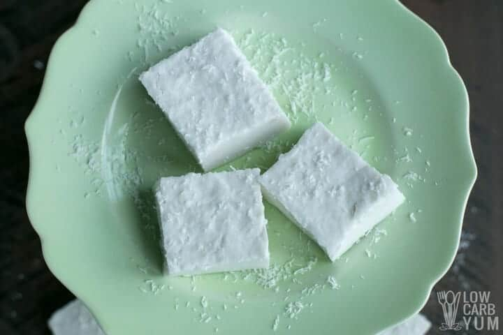 Easy coconut jelly squares