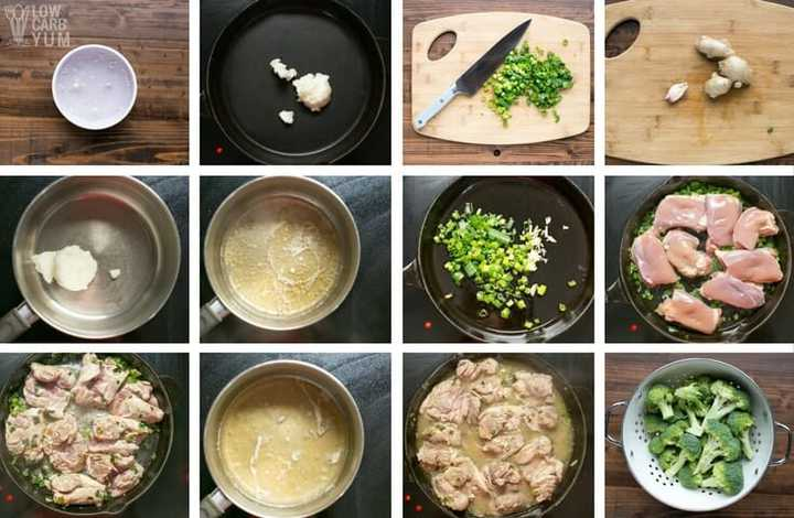 Making Asian Style Keto Chicken with Lemon