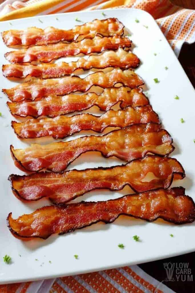 cooked bacon on plate