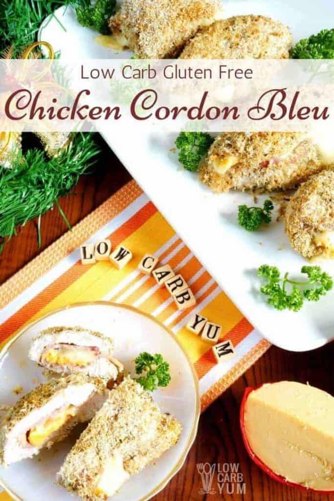 Keto low carb chicken cordon bleu recipe